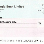 Sample Bangladeshi Bank Cheque