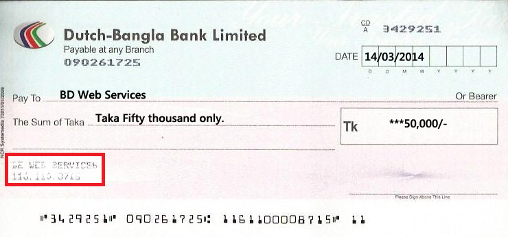 Bank Cheque Printing Software In Bangladesh Bd Web Services